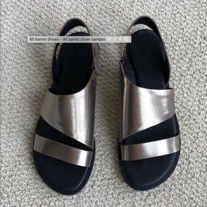 Silver All Saints sandals!